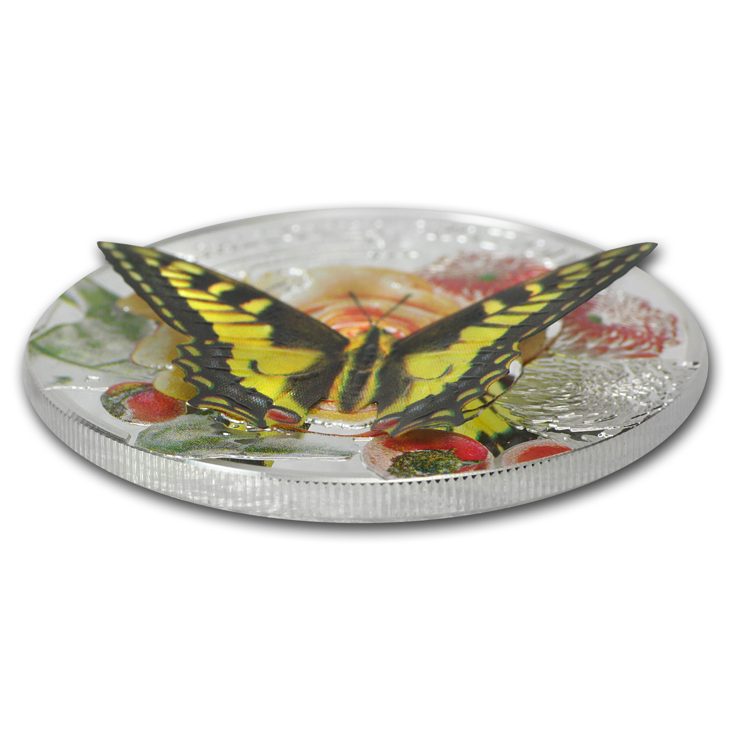 2013 Andorra Proof Silver 3D Exotic Butterflies Swallowtail